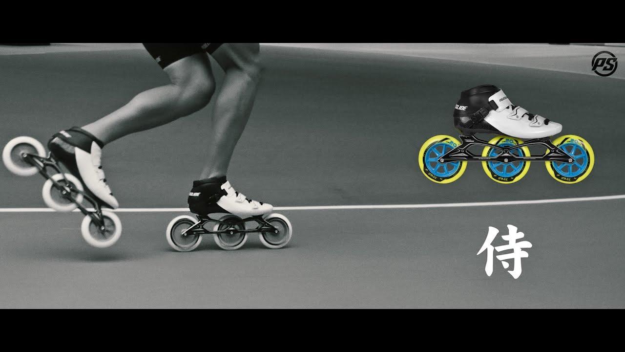 0f6d1cad480 Powerslide Samurai racing inline skate - YouTube