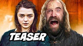Game Of Thrones Season 8 Teaser Arya Stark's List and Cleganebowl Scene Easter Egg
