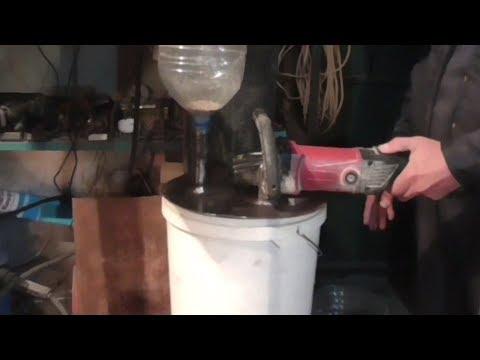 Зернодробилка из болгарки своими руками видео