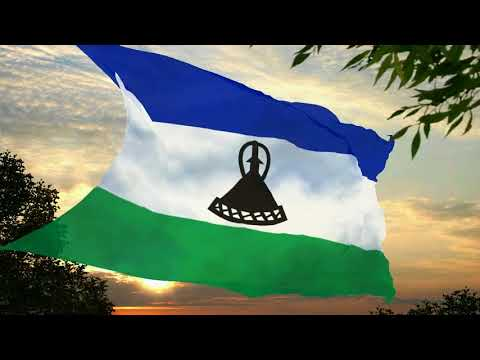 Flag and anthem of Lesotho