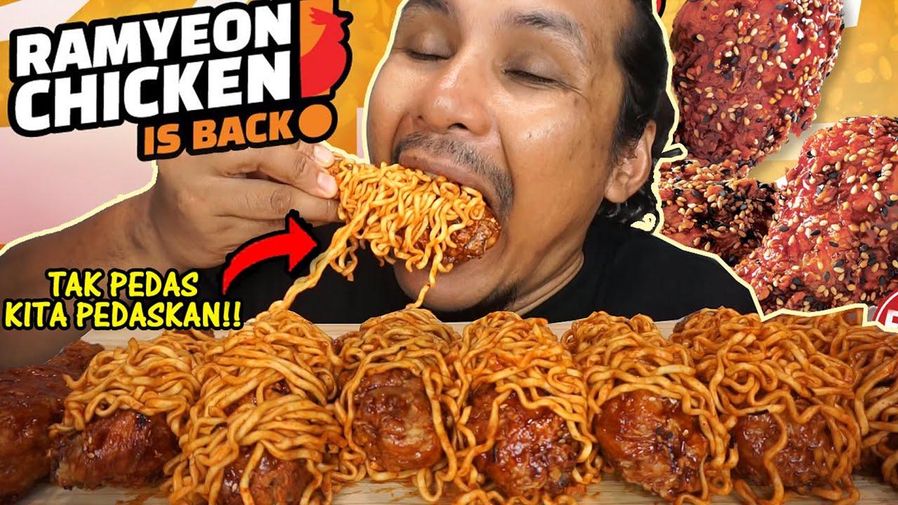 RAMYEON CHICKEN yang sebenar (mukbang malaysia)