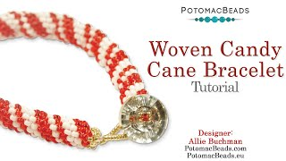Woven Candy Cane Bracelet or Necklace Design