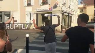 Allez les Policiers! French police join jolly masses in WC celebrations