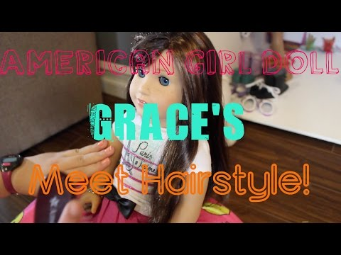 How To Do American Girl Doll Grace Thomas' Meet Hairstyle!