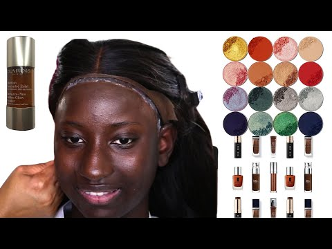 BRIDAL  MAKEUP AND HAIR TRANSFORMATION| FOR DARK SKIN