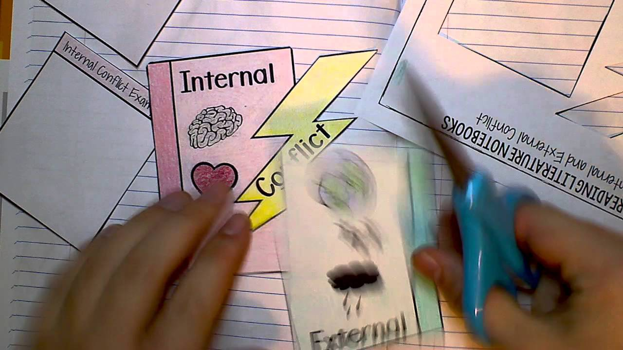 internal amp external conflict interactive notebook