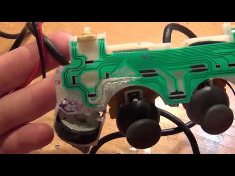 Как восстановить гибкую плату джойстика PlayStation 2,3,4. Токопроводящий клей (cut)