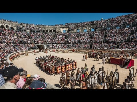 WATCH GLADIATORS FIGHT IN A REAL ROMAN ARENA