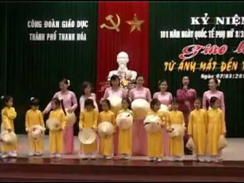 chương trình văn nghệ chào mừng 8-3 - Trường MN Hoa Mai-TP Thanh Hóa