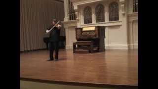 Bach- Partita in d minor for unaccompanied violin: Allemanda- Yonatan Grinberg
