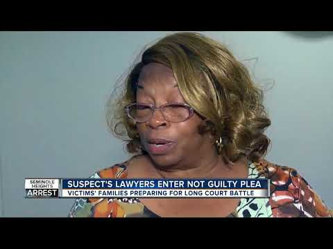 Attorney of accused Seminole Heights killer enters not guilty plea on suspect's behalf