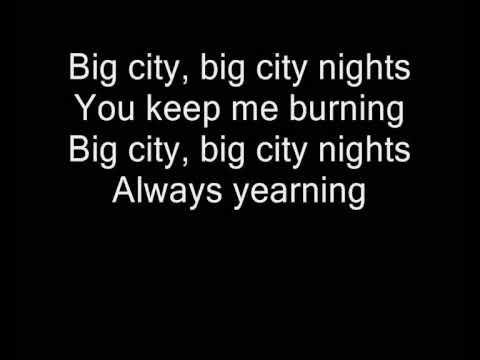 Karaoké scorpions big city nights
