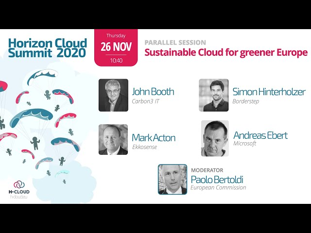 Parallel Session: Sustainable Cloud for greener Europe