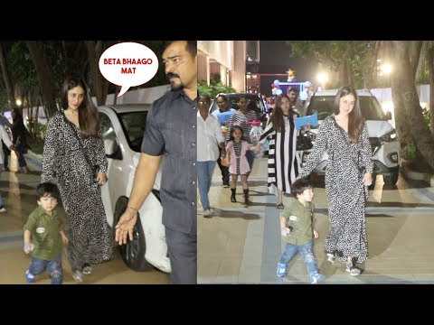 Taimur Ali Khan Cutely Running Like Crazy With Mom Kareena Kapoor Khan At A Friends Party Mp3
