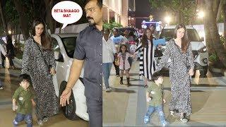 Taimur Ali Khan Cutely Running Like Crazy With Mom Kareena Kapoor Khan At A Friends Party