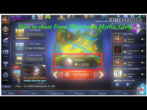 Cara Mengubah Rank WARRIOR KE MYTHIC | Tutorial GameGuardian