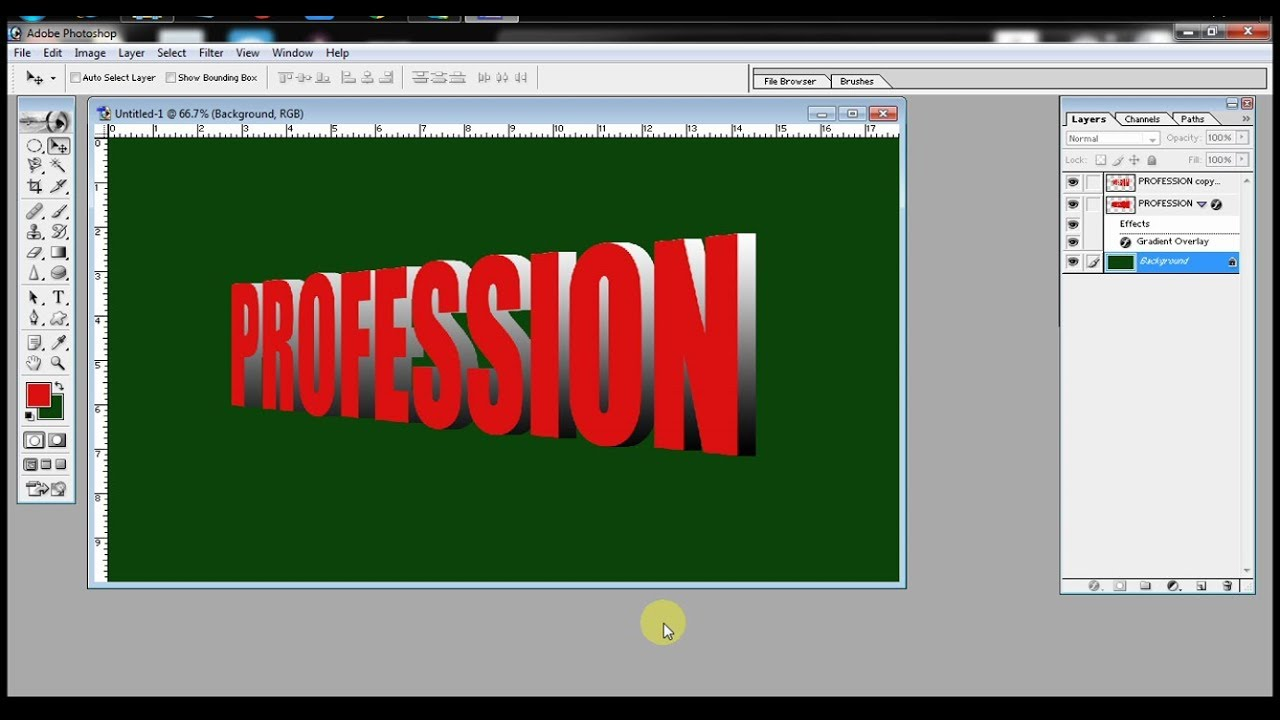 "How to make stylish and perfect 3d text in photoshop 7.0 ? by ""Tech-geekay"" in HINDI"