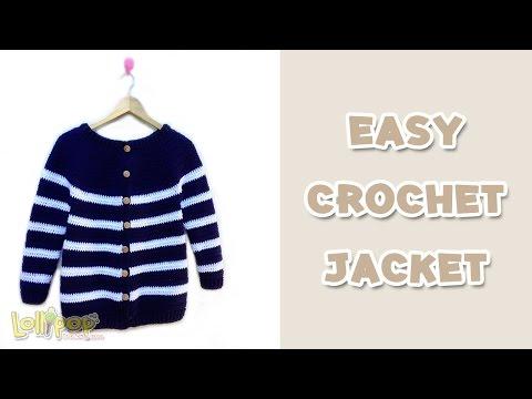 เสื้อโครเชต์กันหนาว ถักง่ายเสร็จเร็ว! (Easy Crochet Jacket)