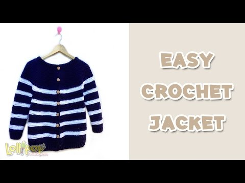 Eng Sub - เสื้อโครเชต์กันหนาว ถักง่ายเสร็จเร็ว! (Easy Crochet Jacket)