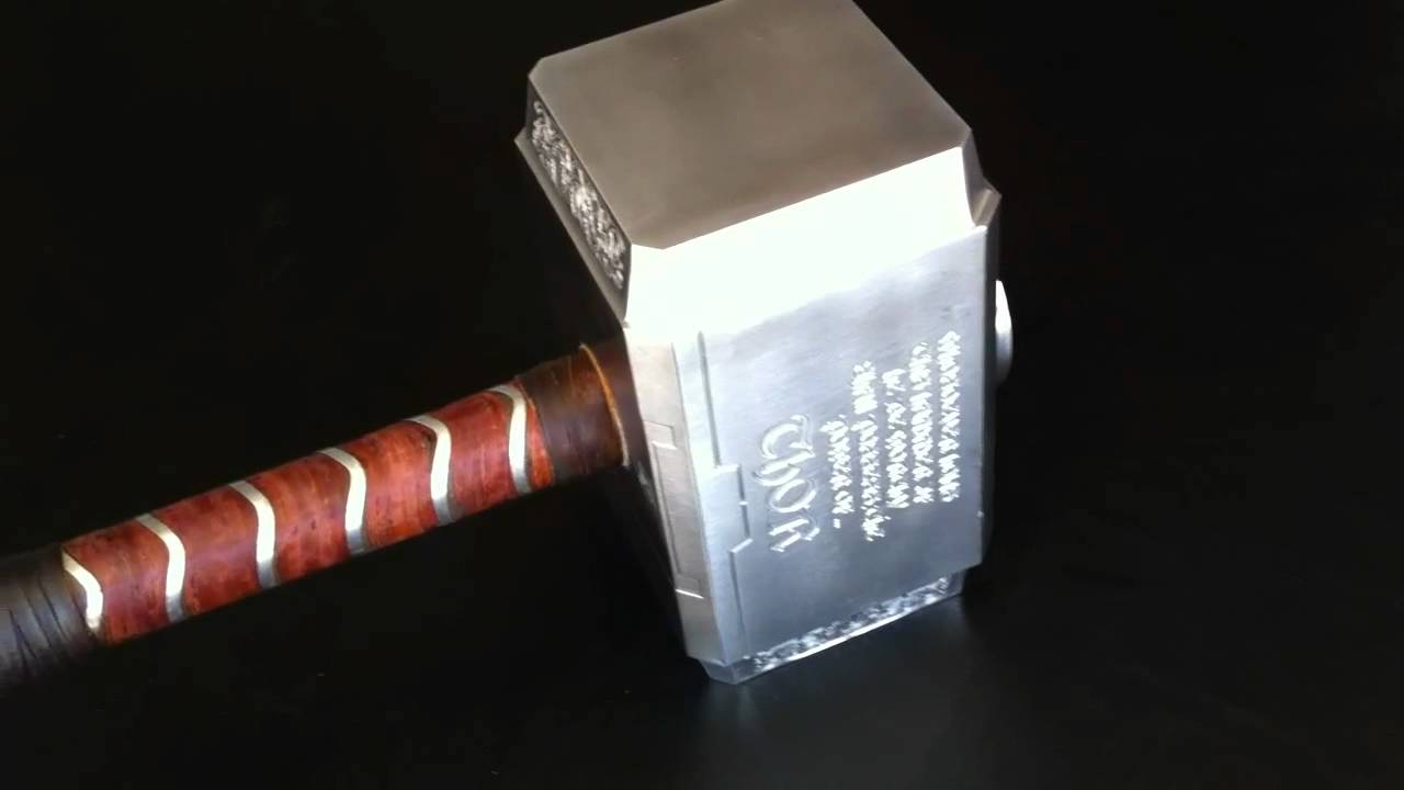 thor hammer replica custom made solid metal youtube