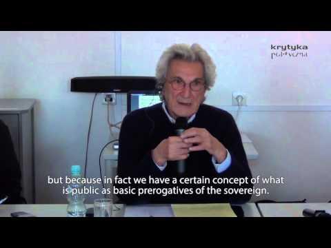 Antonio Negri: Beyond the public sphere. Towards the common