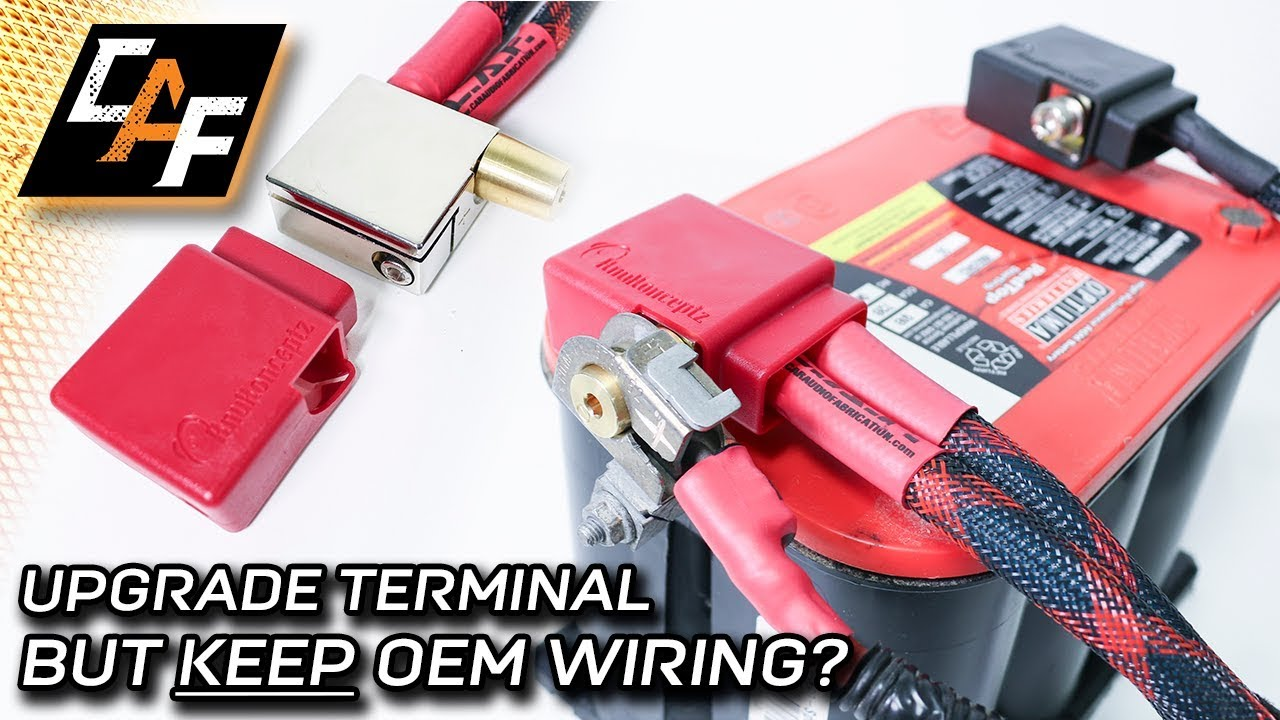 hight resolution of upgrade battery terminal without cutting the oem wire knukonceptz ultimate battery terminal