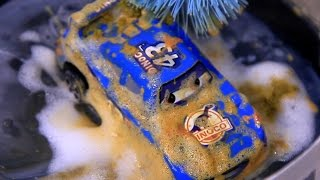 Toy cars in the mud & the car wash Video for  Kids