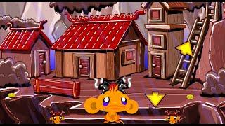 Monkey GO Happy Samurai Fast Walkthrough