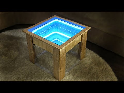 How To Make Infinity Mirror Coffee Table? DIY Table