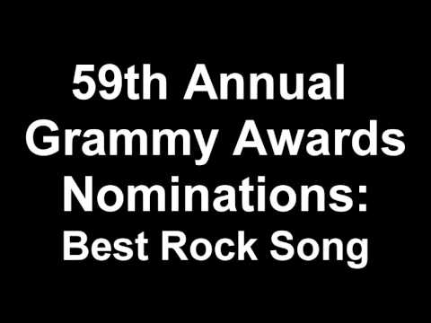 59th Annual Grammy Awards Best Rock Song Nominees