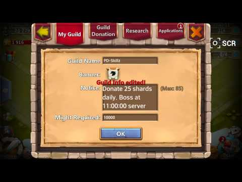 Castle Clash: How To Make A Guild.