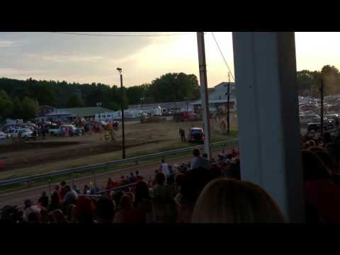 Trump Crash Athens County Fair Tuff track 2k16