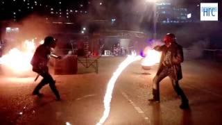 Огненное шоу каскадеров мото театра Александра Елагина в Красноярске