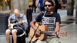 Edwin HALLELUJAH busking jam - feat. Valerio Papa - Milano 15/06/2014