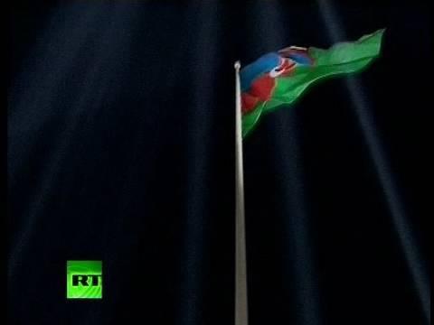 World's biggest flag scrapes skies in Azerbaijan