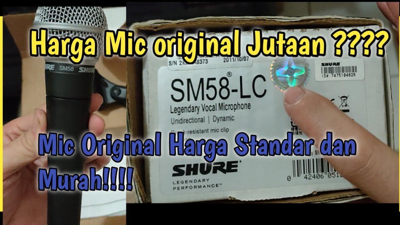 Unboxing Mic Shure Sm58 Original Kapan Lagi Beli Mic Original