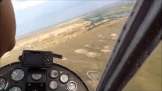 самолет Бекас Х32 полет на Меловые горы Волгоградской области