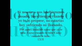 Juan Gabriel - Caray letra-Lyrics