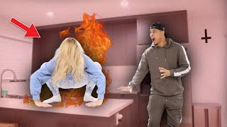 ACTING LIKE IM POSSESSED TO SEE HOW MY BOYFRIEND REACTS!! **HILARIOUS**