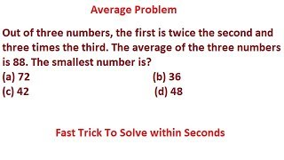 Average Aptitude Trick in Hindi for all Competitive Exams! part 15