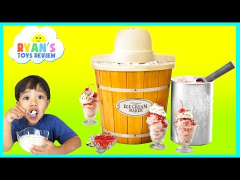 Thumbnail: ICE CREAM MAKER Machine! Makes REAL YUMMY ICE CREAM treats with Ryan ToysReview and Spiderman toy