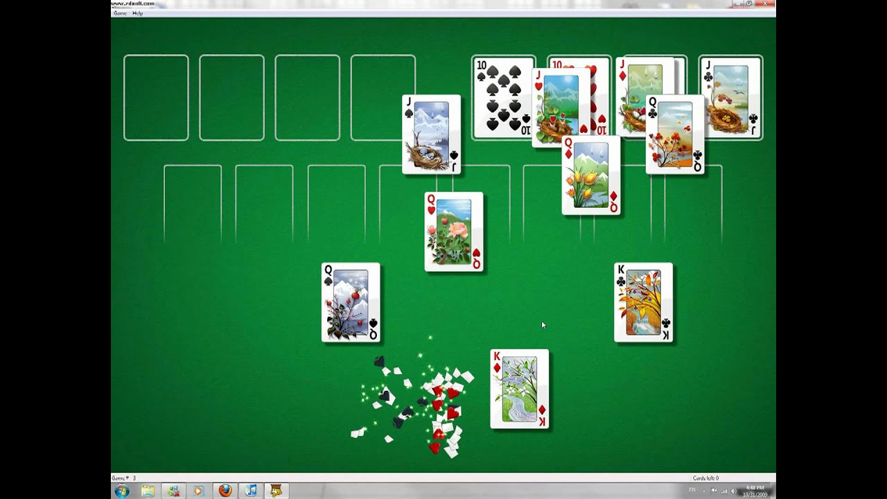 Windows 7 FreeCell Cheat (Always Win) - YouTube