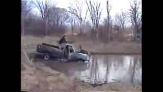 Tractor f250 diesel stuck and rescued