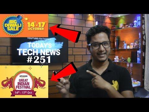 Tech News of The Day #251 - Flipkart Amazon Sale,Honor 6C Pro,Lava Helium 12,Oppo F3 Lite,OnePlus 5T