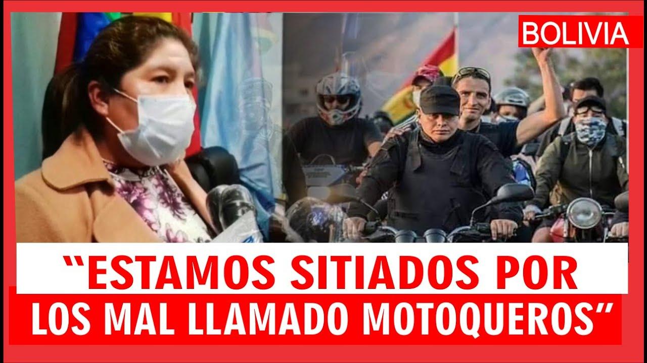 """Cochabamba: Gobernadora Esther Soria denuncia el asedio de los """"mal llamados MOTOQUEROS""""-Conferencia"""