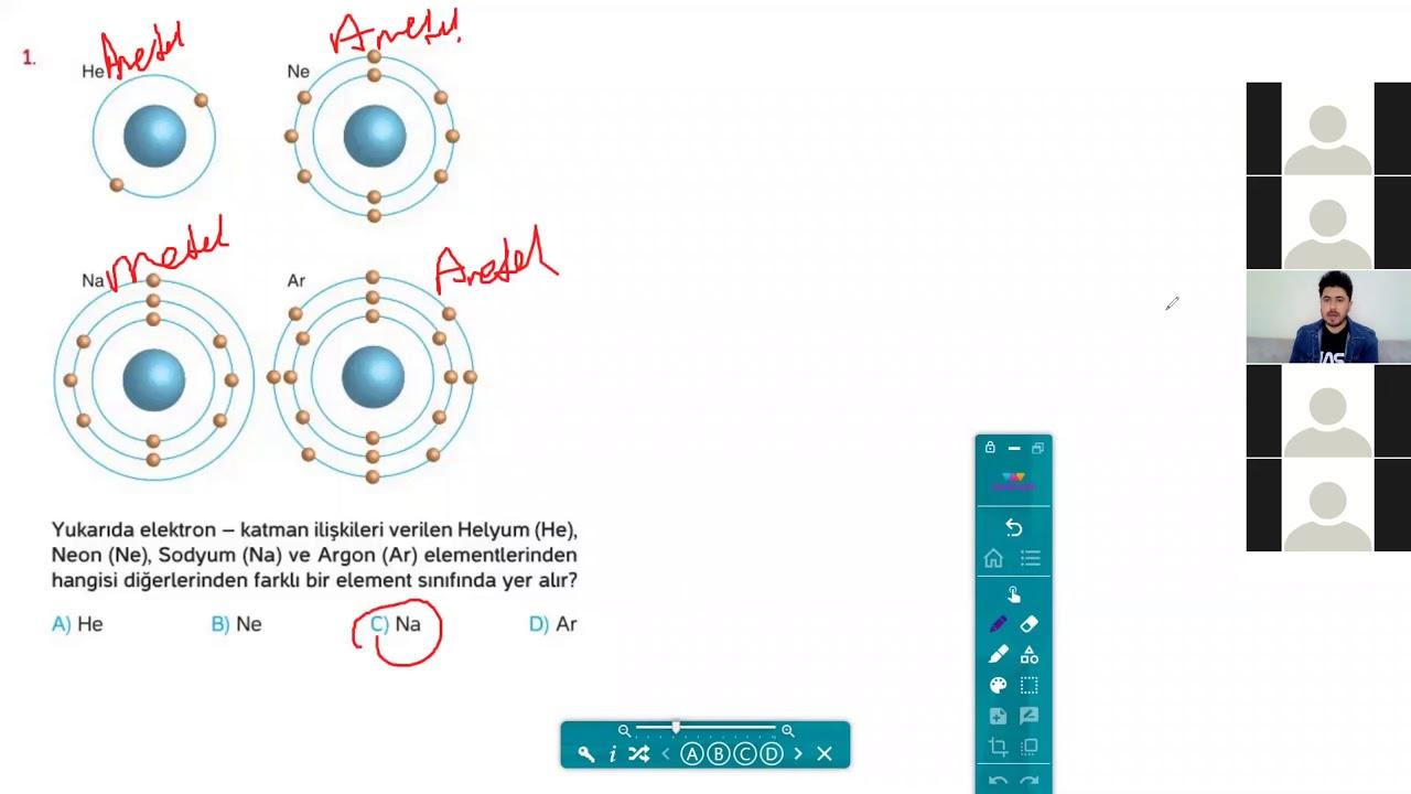 8.Sınıf Fen Bilimleri - Periyodik Sistem Soru Çözümleri / Canlı Ders