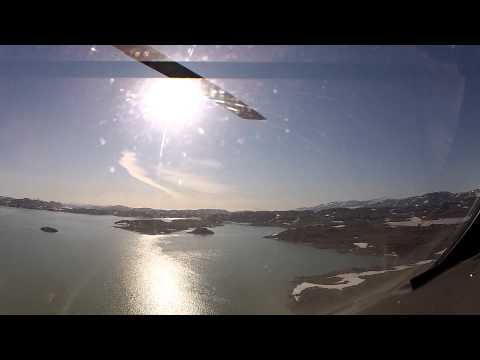 Flying from Isortoq Mountain April 2011