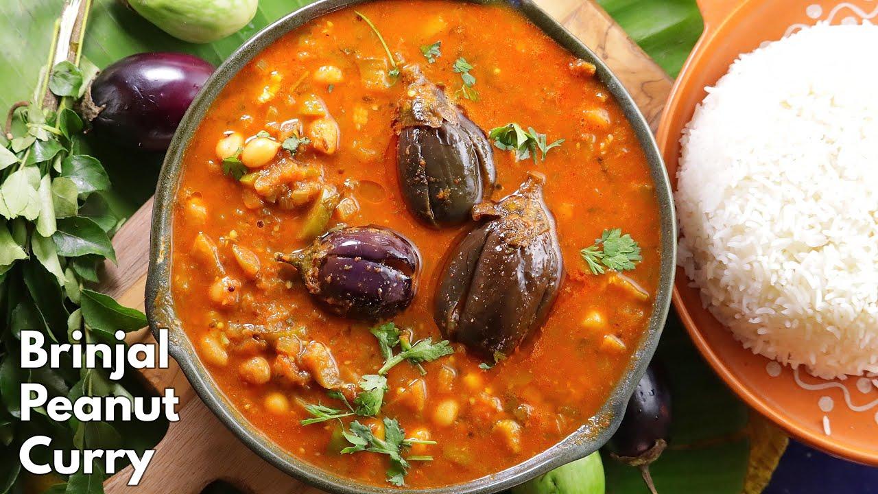 రాయలసీమ వంకాయ  పల్లీల  పులుసు || Brinjal Peanut Pulusu recipe in Telugu @Vismai Food | Vankaya curry
