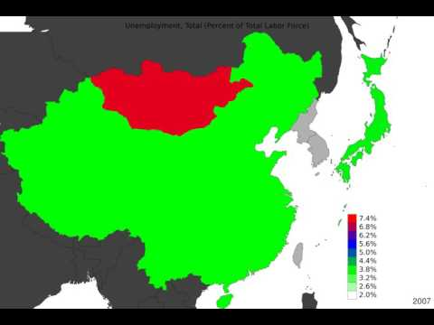 East Asia - Unemployment, Total - Timelapse