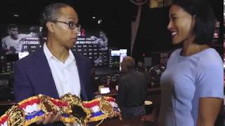 Cecilia Breakhus receives first Ring Pound-for-Pound Champ belt for women